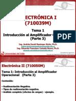 Electrónica - Amplificadores operaciones- Realimentación negativa.