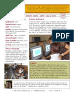 Paradigm Initiative Nigeria - GSBI 2010 - Factsheet