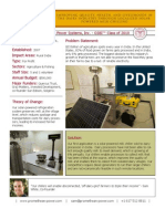 Promethean Power Systems, Inc. - GSBI 2010 - Factsheet