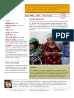 Tujijenge Afrika - GSBI 2010 - Factsheet