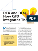 DFX and DFSS How QFD Integrates Them