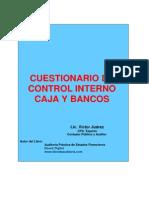 rio de Control Interno Caja y Bancos