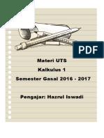 Materi UTS Kal I Gasal 2016-2017