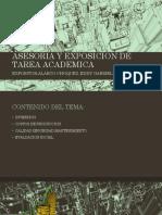 Asesoria y Exposicion de Tarea Academica