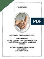 Uso de Opiodes Dolor Cronico Cancer