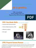 Genética Historia. 1980-Actualidad