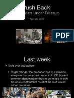 Push Back Journalists Under Pressure in Film 4-26
