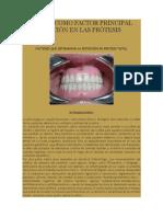 La Saliva Como Factor Principal de Retenciòn en Las Pròtesis Totales