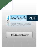 Ansa Course Content New