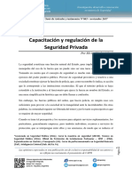 Capacitacion y Regulación Seguridad Privada