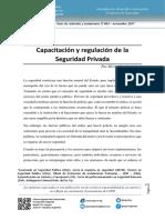 Capacitacion y Regulación Seguridad Privada