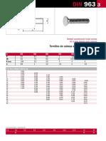 Tornillo Cabeza Plana ISO 2009 DIN 963