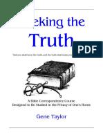 Seeking The Truth Bible Course