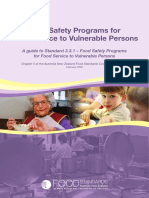 Food Safety Programs for Food Service to Vulnerable Persons Australia Food Standards Australia New Zealand a Guide to Stand