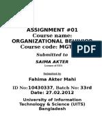 Assignment 01 Ob.
