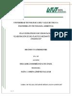 Plan Estrategico Para Bioplasticos Luis Angel Delgadillo Rodriguez