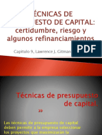 Tecnicas de Presupuesto de Capital