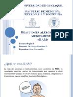 Reacciones Alérgicas a Los Medicamentos (RAM)