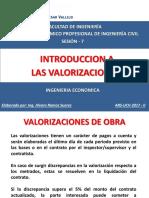 Sesion 7 - Introduccion a Las Valorizaciones