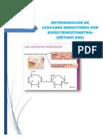 Determinacion de Azucares Reductores ( DNS)