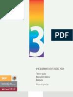 Programa tercer grado