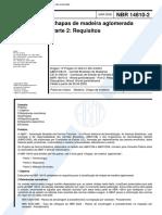 NBR 14810 - Chapas de Madeira Aglomerada - Parte 2 Requisitos