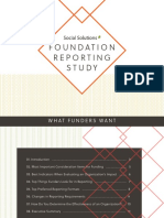 Foundation Reporting Study Social Solutions