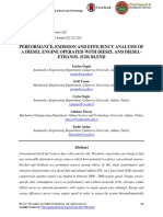 Performance Emission and Efficiency Analysis