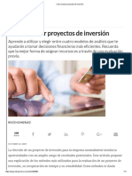 Cómo Evaluar Proyectos de Inversión