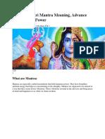 Rudra Gayatri Mantra Meaning