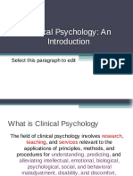 Overview of Clinical Psychology
