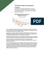 Deforestacion en El Perú y en La Libertad
