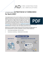 Revit Server or Collaboration for Revit (C4R)?