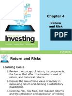 Chapter 4- Return and Risk