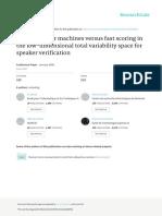Support Vector Machines Versus Fast Scoring in The