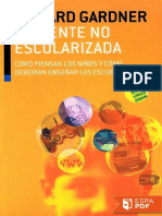 La Mente No Escolarizada - Howard Gardner