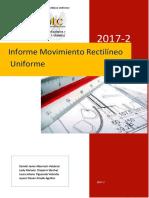 Informe_Movimiento Rectilineo Uniforme