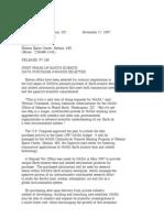 Official NASA Communication 97-268