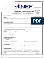 2010 Fulbright Application Form