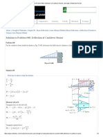 Solution to Problem 648 _ Deflection of Cantilever Beams _ Strength of Materials Review