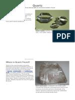 Quartz Mineral,Photos,Uses,Properties,Pictures