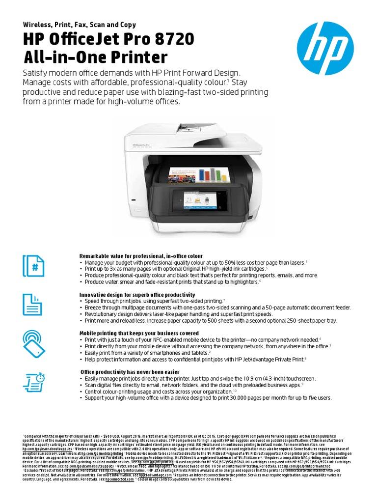 OJP 8720 pdf | Image Scanner | Printer (Computing)