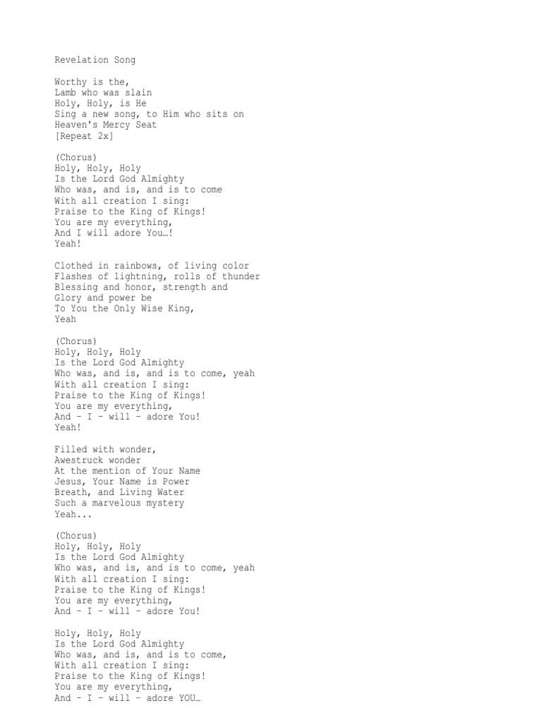 Revelation Song Kari Jobe