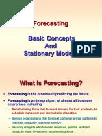 Forecasting Stationary Models