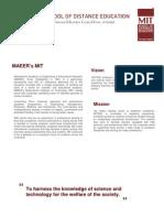 Distance learning  Finance Management course (PGDFM) - MIT Pune