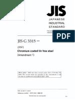 JIS G 3315-2008 amd 1-2009