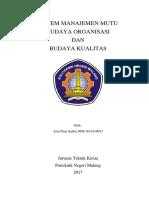 Budaya Organisasi Dan Budaya Kualitas