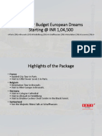 Summer Budget European Dreams With SOTC Holidays