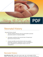 3 Hx and Pe of the Newborn