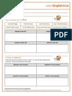 Yourturn Seasons Worksheet